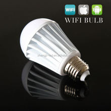 New! pure white/warm white E27 12w Wifi control dimmable led bulb 2.4G Touch Screen Remote Control RGB wifi led bulb