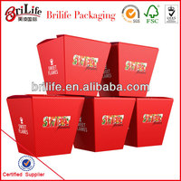 High Quality Fashion Waxed cardboard boxes food Wholesale