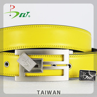 Hot PGA championship great top sale yellow creatively pvc leather belt