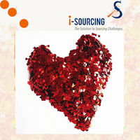 China suppliers Shiny red heart shapes glitter powder for sale