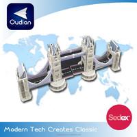 OEM 2015 New Product Famous London Tower Bridge Educational DIY KT super Board 3D Puzzle for Children China Wholesale