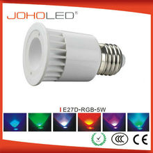 E27 5W Colorful Auto Rotating RGB LED Bulb Stage Light Party Lamp Disco