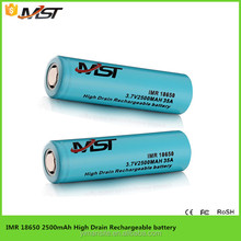 numerous in variety 18650 lithium ion battery , 2500 mAh 3.7v dependable performance Lithium Battery Cells