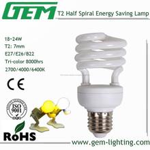 Lámpara fluorescente T2 18 W / / espiral