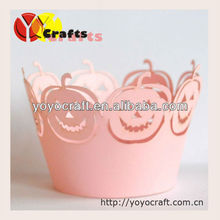 laser cut cake decoration halloween cupcake wrappers from YOYO crafts