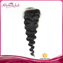 Wholesale Alibaba Deep Wave Style 100% Brazilian Virgin Hair Lace Closure