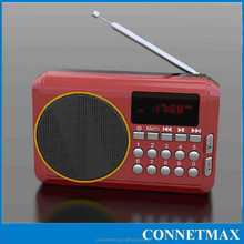 High battery capacity FM Radio Supports TF Card/ U disc music play Beautiful sound USB Charging Quality