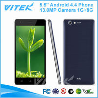 Alibaba Express 5.5 inch Quad Core 1.3GHz Cheap Mobile Phone 1GB RAM