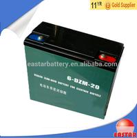 6-dzm-20 battery 12v 20Ah rechargeable lead acid battery for E-bike
