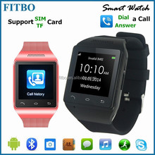 Trendy European Gift MTK6260A SIM Email 3.0 BT GV09 smart watch FTB19