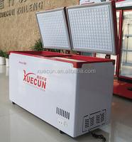 BCD-218 Double temp top open door cabinet cooler & freezer