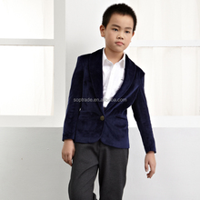 Fashion style kids winter clothing long sleeve children boys blazer jacket