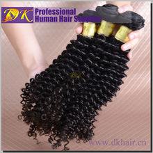 GZ hot DK beauty kbl peruvan remy hair extensions virgin natural color #2 curly peruvian hair