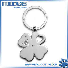 flower-shaped snow-white metal key holder as promotional items