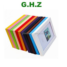 Cheap Small Picture Photo Frames/ Colored Wood Picture Frames/ Paper Wood Photo Frame Factory