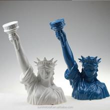 Americano del busto del diseño figura de resina estatua de la libertad de decoración