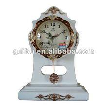 Alarm clock,desk clock,Quartz clock,wood,Creative design for geek,wood+white,MOQ=1 GBD-1071H