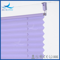 Germany style lace pleated window blinds, cordless pleated blinds