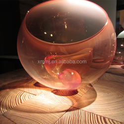 Hand blown pink color murano glass art collectable decor flower pots wholesale