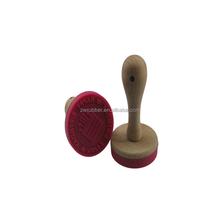 BPA free/food grade silicone customize Xmas cookie stamp