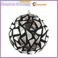 Popular chirstmas hanging Wooden christmas ball hanging