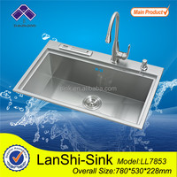 LL7853 bathroom sinks with two faucets hand handmade wash basin sizes bowls