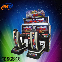 Outrun racing arcade simulator game machine double seats for kids