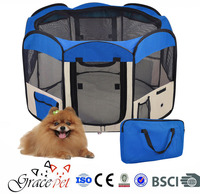 [Grace Pet] Dog Kennel Pet Fence Puppy Soft Playpen Exercise Pen Folding Crate
