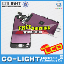 2016 Free shipping for Mobile Phone Parts/for iPhone 5 Parts/Accessories for lcd iPhone 5 with 12 months guarantee