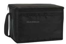 Promotional Black Polyester 6 Can Cooler Bag