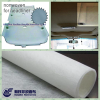 Sold abroad strong tear strength non woven car roof headling decorative fabric for High-grade car interior