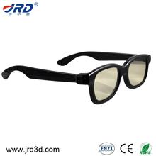 de plástico circular polarizado gafas 3d para 3d películas de cine