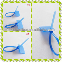 blue colorful cable markers and ties