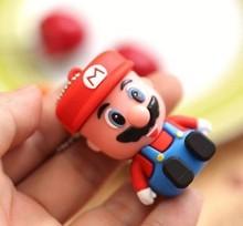 New Cartoon Mario Model USB 2.0 Enough Memory Stick Flash pen Drive 8GB