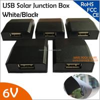 5V Solar Junction Box Electrical Connector Spade Terminal Micro USB Connector for Below 10W Flexible Solar Panel CE FCC TUV