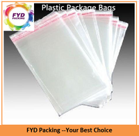 Transparent PE shrink bags with adhesive strip for frozen poultry packaging