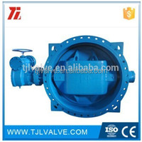 double offset ansi/din electronic control butterfly valve risilient seat water use