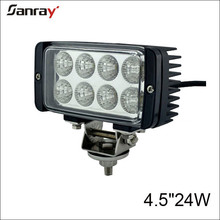 Off road auto parts 4.5 inch 24W rectangle offroad led work light for 4x4 vehicles