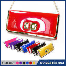 2015 new fashion lady leather messenger wallet