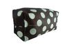 Fabric Cosmetic pouch / zipper toilet travel kit bag / dot cosmetic bag with mirror