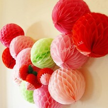 Honeycomb ball paper pompons for wedding & party