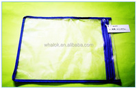 Fashion Style Customized Zip Lock PVC Apparel Packaging Bag
