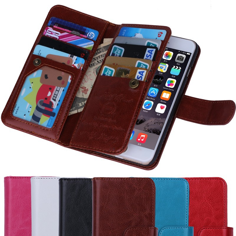 BRG Manufacture Multifunction wallet case for iphone 6 with 9 card ...