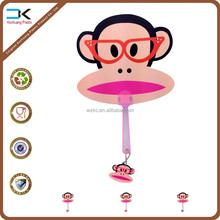 Monkey design cartoon handle held fan ready stock for wholesale