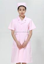 2015 new arrival Hospital Clinic nurses short sleeve uniform coat Pink