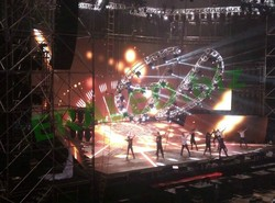 colorful flexible led curtain display for stage use