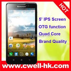 "Hot Sell GSM WCDMA Android 4.2 1280x720p 1GB RAM 4GB ROM 5.0"" MTK6589 Quad Core Original P780 Lenovo"