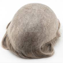 Super thin skin men's toupee V-loops all over, men's invisible toupee in stock