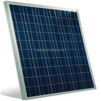 Aluminium framed Solar panels with blue poly silicon cells