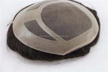 large stock men toupee 6x8 bleached knots Brazilian hair full lace hairpiece wigs for men